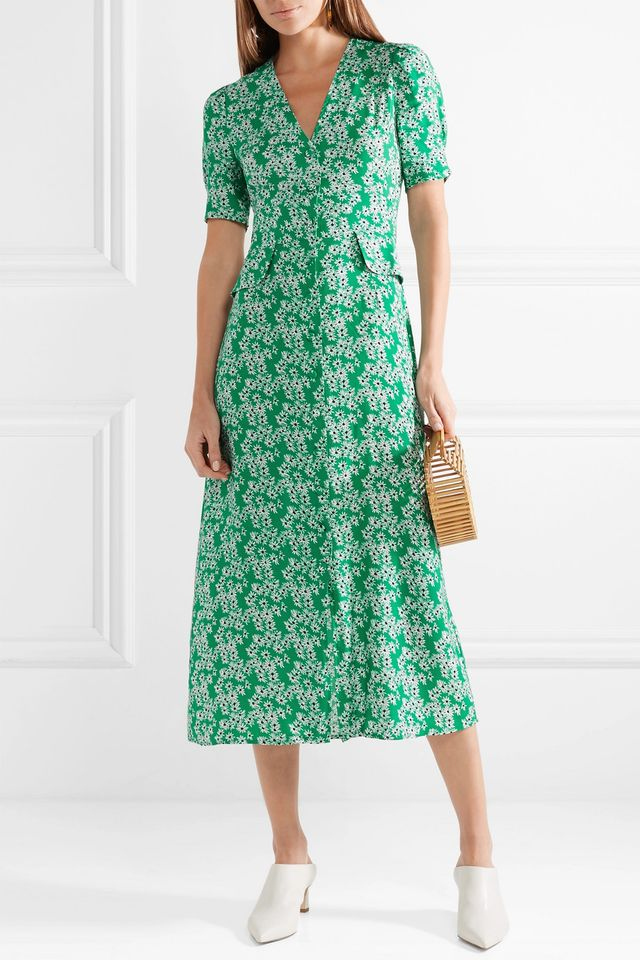 Rixo London Jackson Floral-Print Crepe Midi Dress