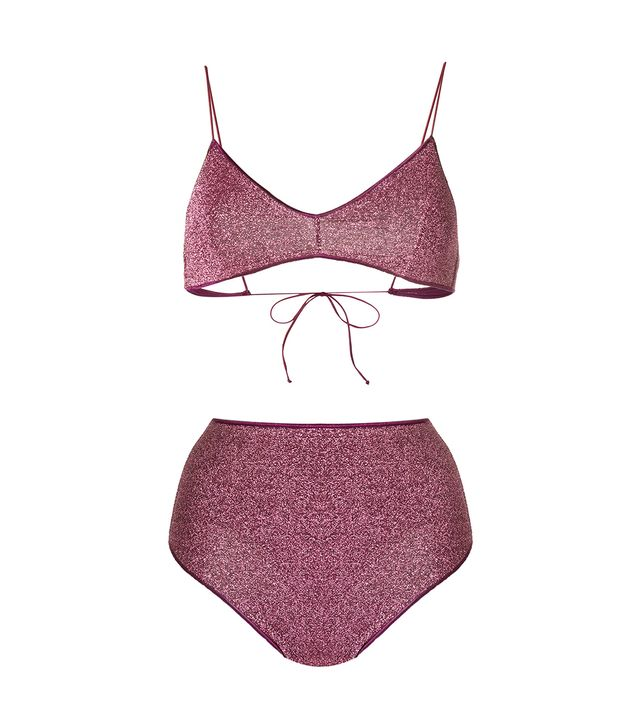 high waisted bikini set