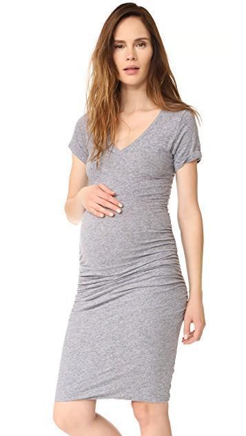 Maternity Shirred Tee Dress