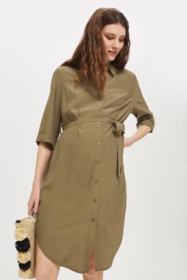 Belted Utility Shirt Dress