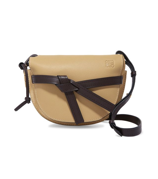 Gate Small Leather and Suede Shoulder Bag