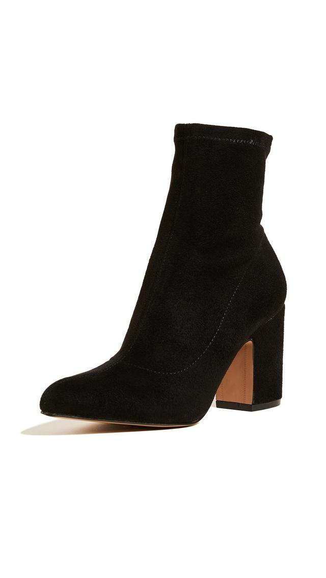 Lieve Block Heel Ankle Booties