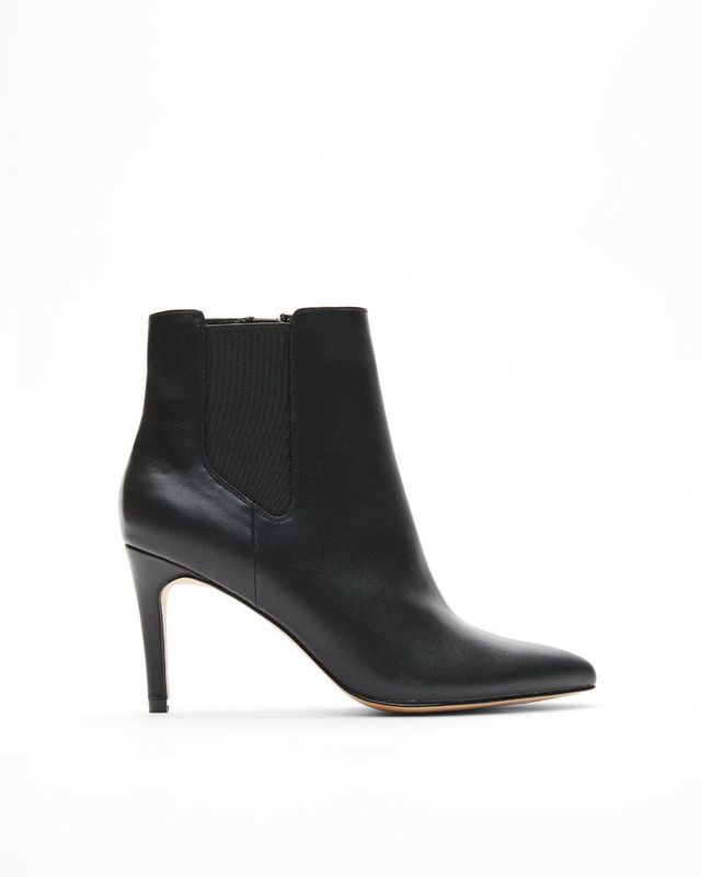 Pointed Toe Heeled Booties