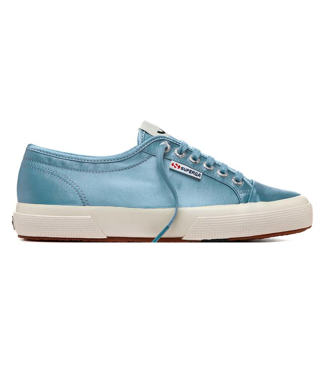 Superga x AlexaChung Blue Smooth Operator Low Tops