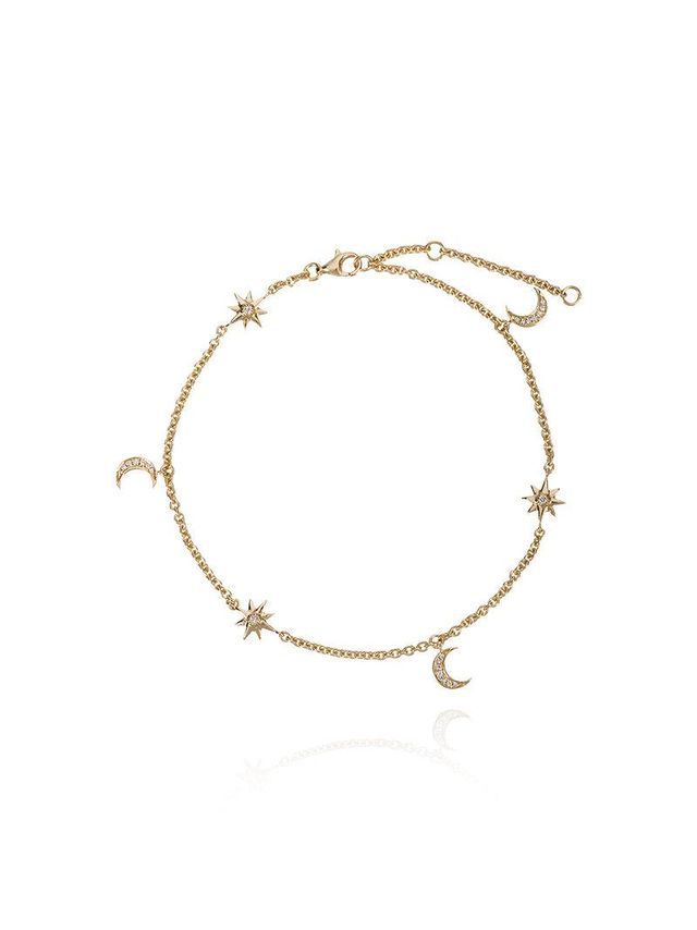 Moon and starlet anklet