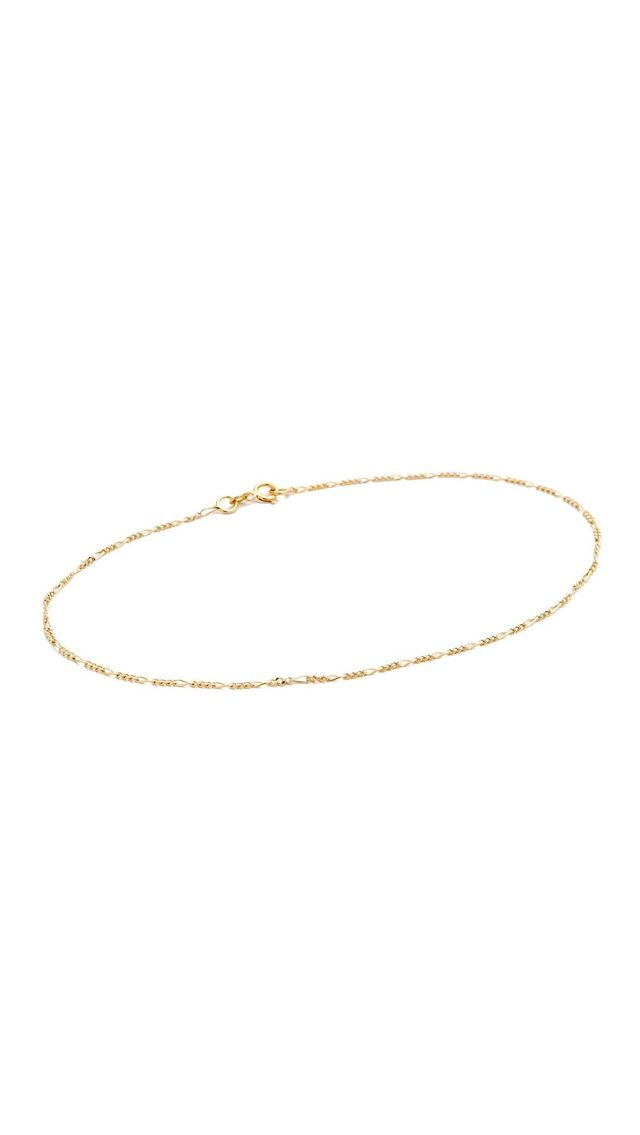 14k Gold Figaro Anklet