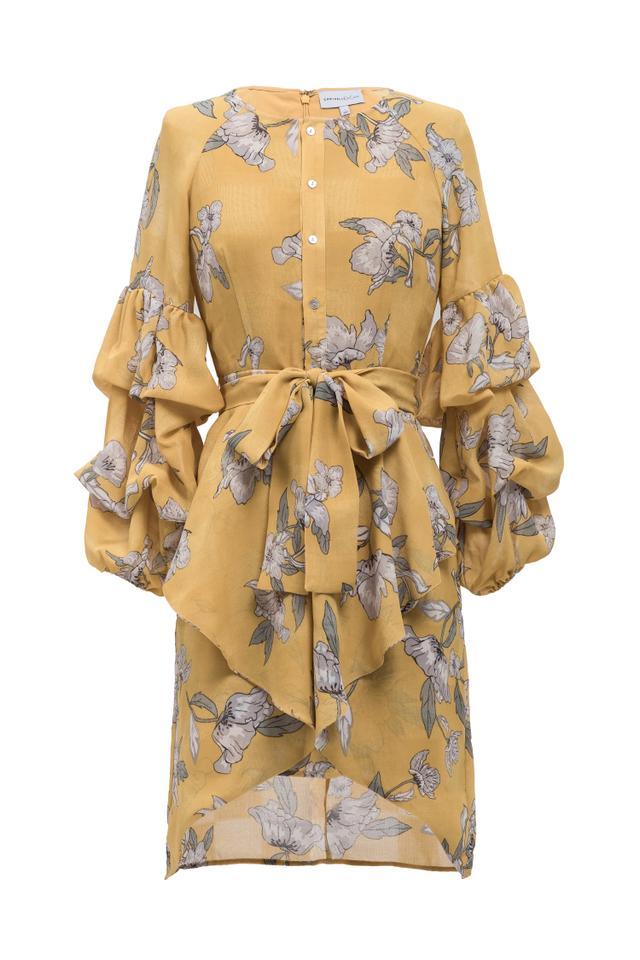 Women's MAC Duggal Velvet Trim Strapless Ballgown