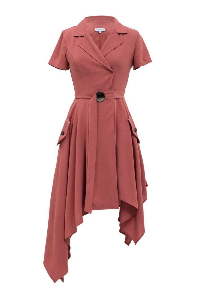 Chriselle x J.O.A. Asymmetrical Trench Dress