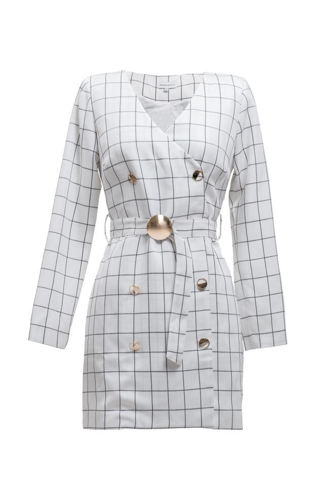 Chriselle x J.O.A. Blazer Minidress