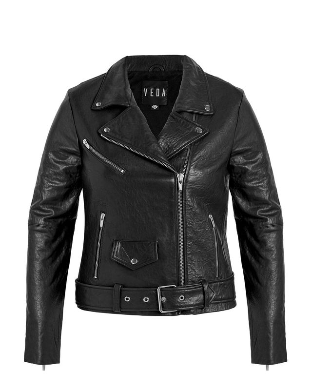 Veda Jayne Biker Leather Jacket