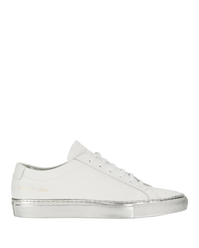 Common Projects Achilles Silver Sole Low-Top Sneakers White 37