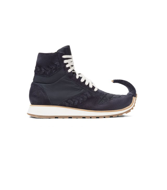 Loewe Dinosaur High Top Sneakers in Navy Blue
