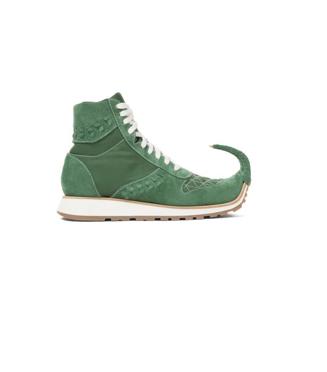 Loewe Dinosaur High Top Sneakers in Green