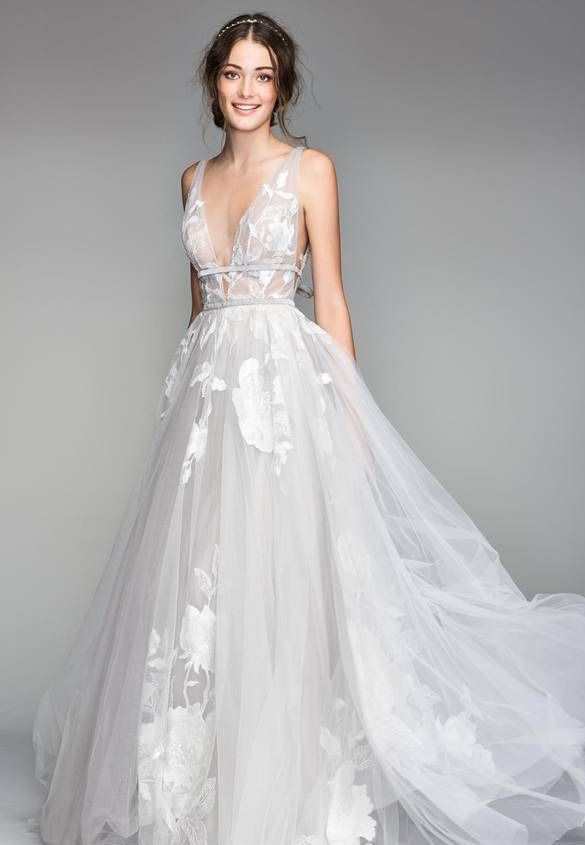Galatea Embroidered Tulle Ballgown