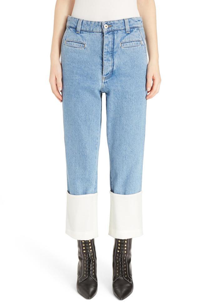 Women's Loewe Fisherman Cuffed Jeans