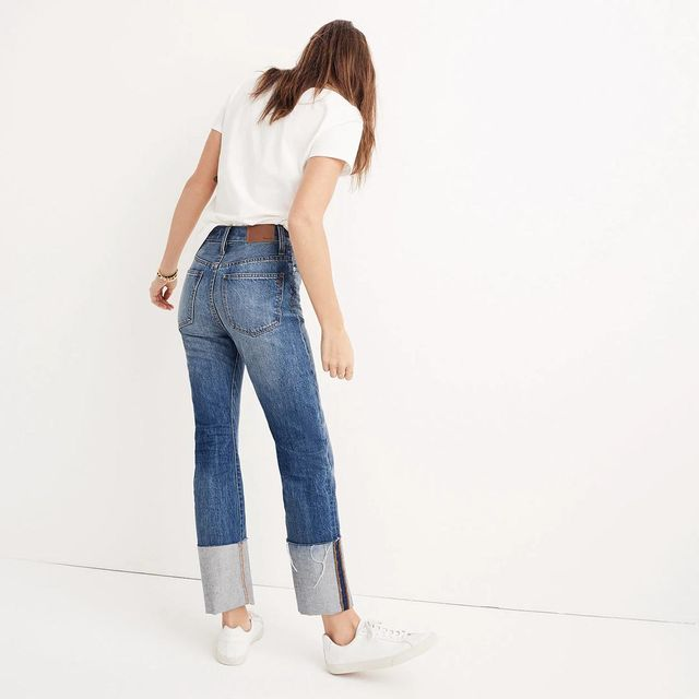 Rigid Straight Crop Jeans: Tall Cuff Edition
