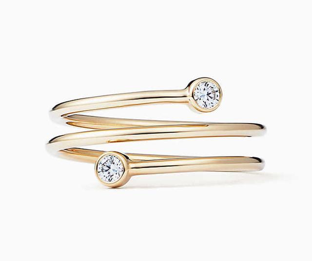 Elisa Peretti Diamond Hoop Ring