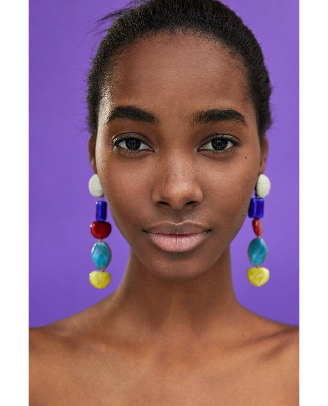 Zara Earrings With Dangling Stones