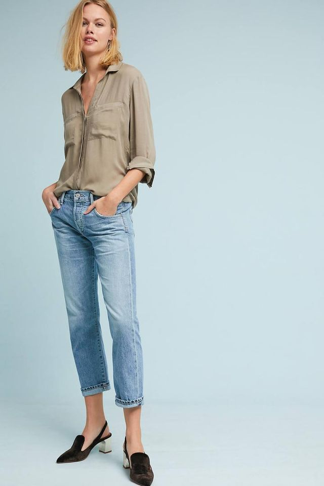Emerson Mid-Rise Slim Boyfriend Jeans