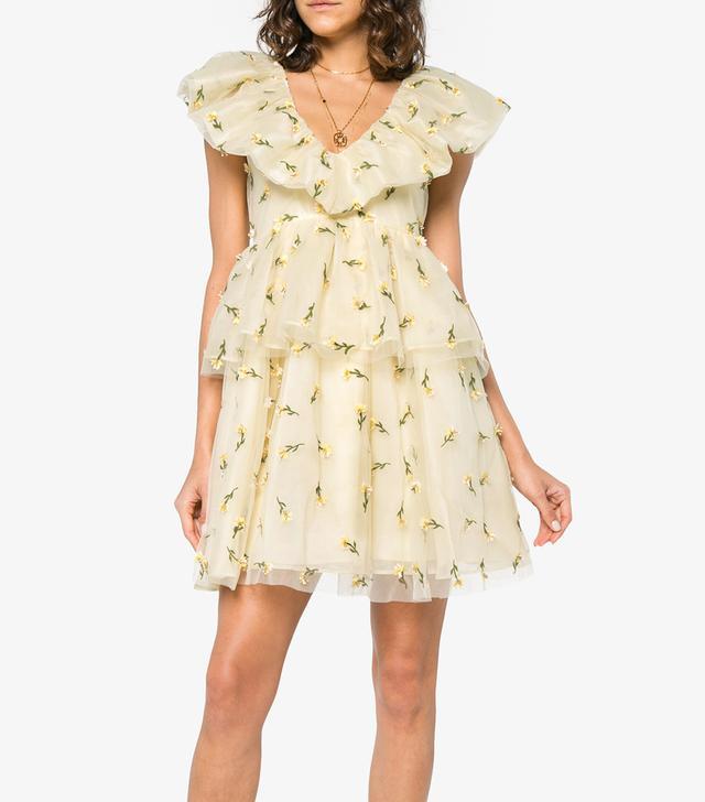 Ruffle Tiered Floral Mini Dress