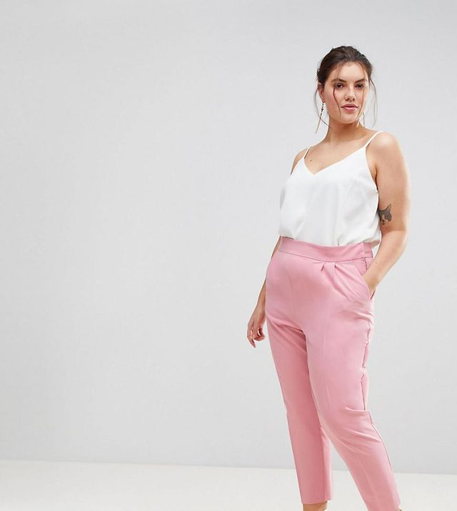 ASOS CURVE High Waist Tapered Pants