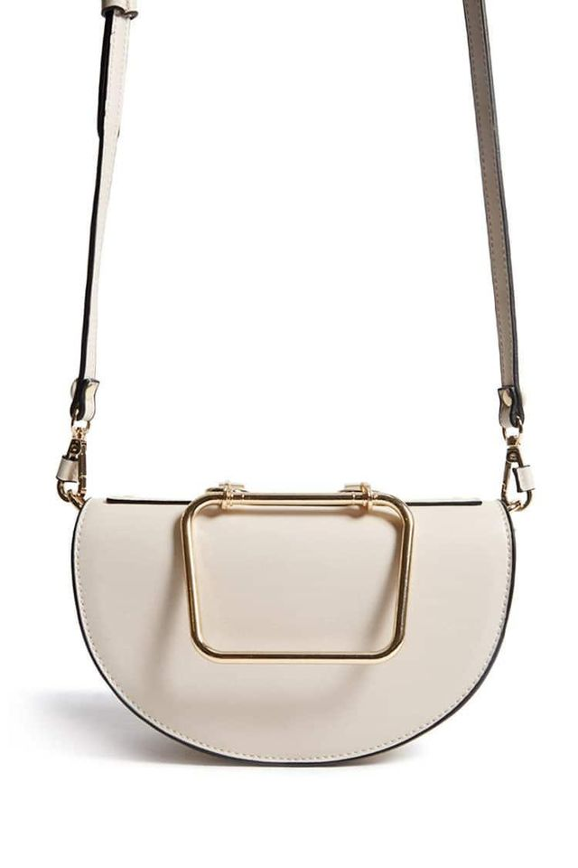 Structured Crossbody Saddle Bag