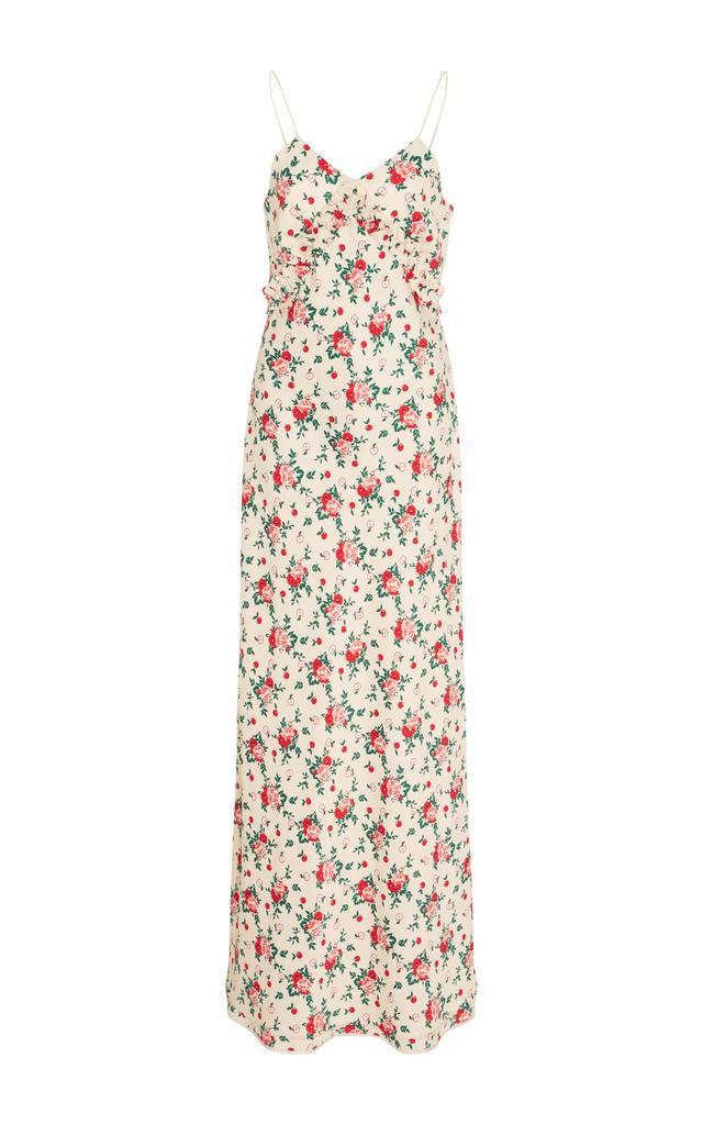 Bariki Floral Slip Dress with Neck Tie