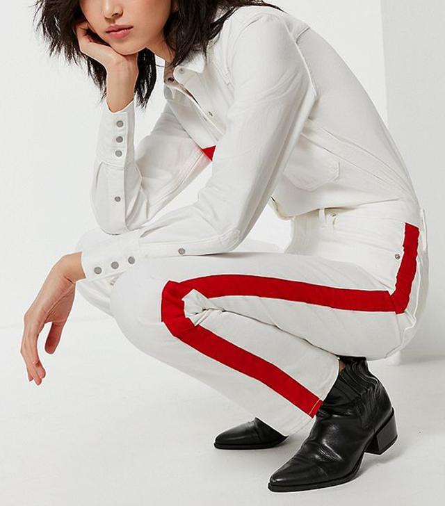 Calvin Klein High-Rise Straight-Leg Jean