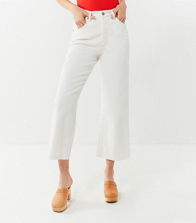 Wrangler + UO Bells High-Rise Cropped Flare Jean