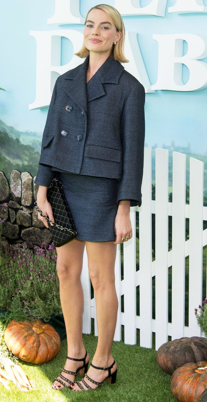 Margot Robbie Chanel skirt suit: