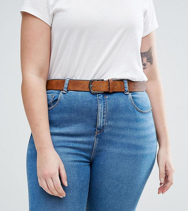ASOS CURVE Vintage Tan Jeans Belt