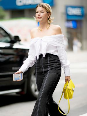 The Perfect Necklace to Wear With Your Off-the-Shoulder Top