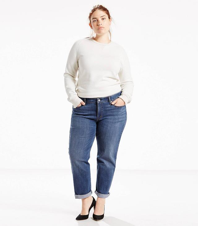 Plus Boyfriend Jeans