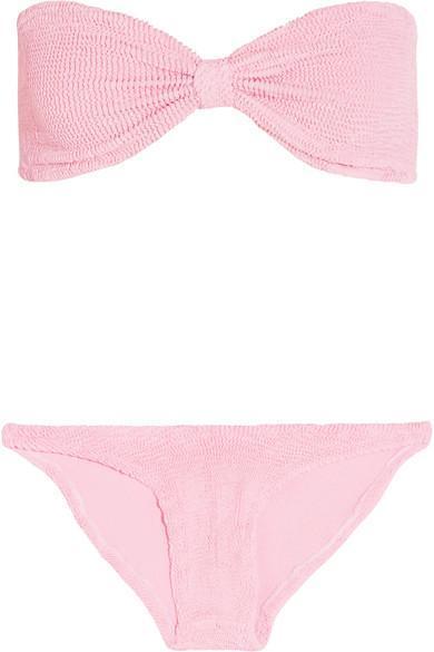 Jean Seersucker Bandeau Bikini