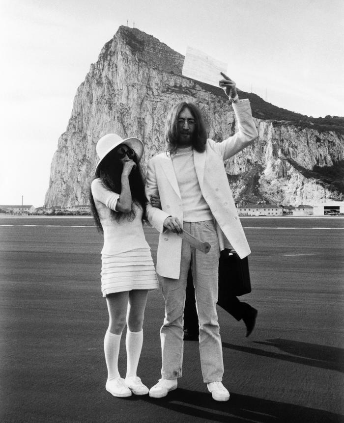 Yoko Ono and John Lennon Wedding Outfits