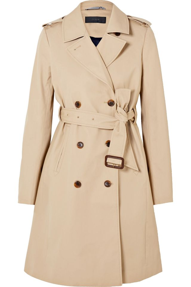 J. Crew Dion Cotton-Gabardine Trench Coat