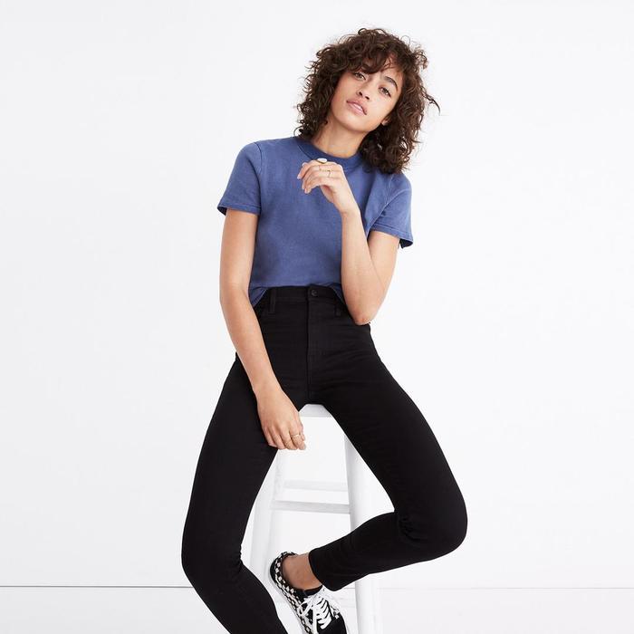 Women/'s H/&M Skinny Ankle High Waist Jeans Plus Size 36 x 31 Black Denim Forever