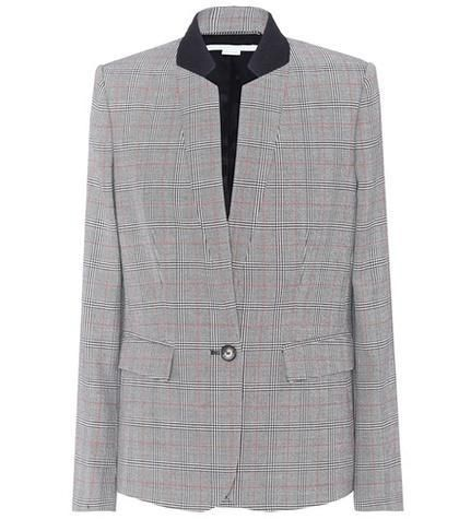 Checked wool jacket