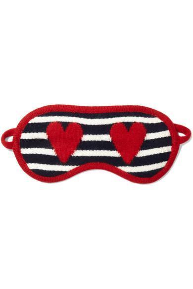 Intarsia Cashmere Eye Mask