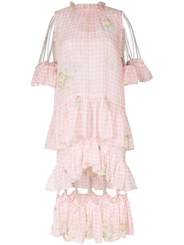 gingham chain dress