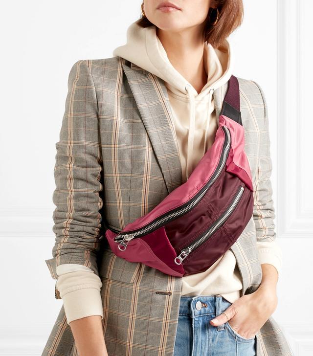 Noomi Color-block Shell Belt Bag