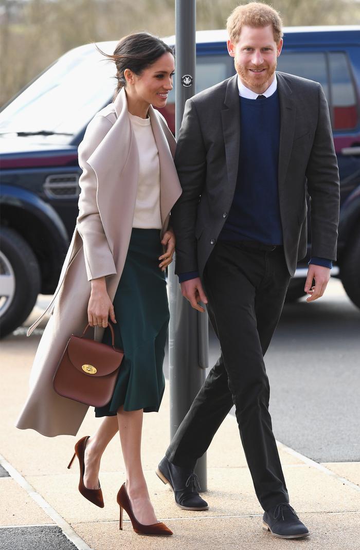 Meghan Markle outfit: Charlotte Elizabeth Bloomsbury bag