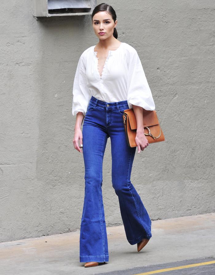 Olivia Culpo wearing H&M blouse