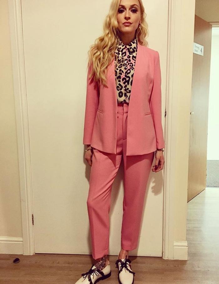 Fearne Cotton Wearing Pink Zara Suit Who What Wear Uk