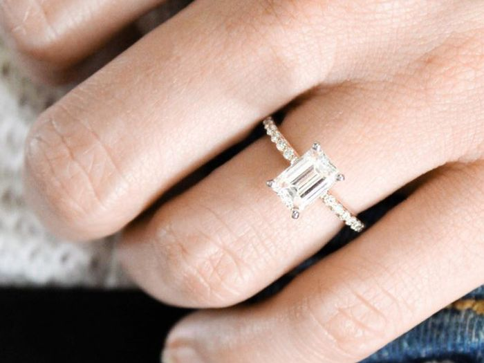 Best Engagement Ring Trends: Emerald-Cut Rose Gold