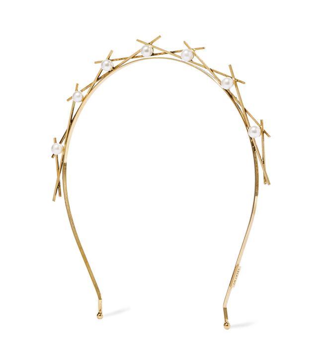 Da Vinci Gold-Plated Faux Pearl Headband