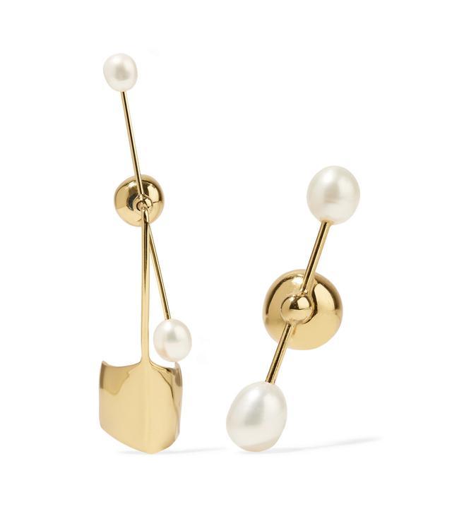 Cloud Nine Gold-Plated Pearl Earrings