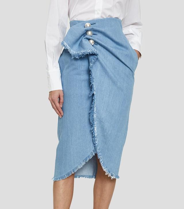 Distressed Jean Venus Skirt