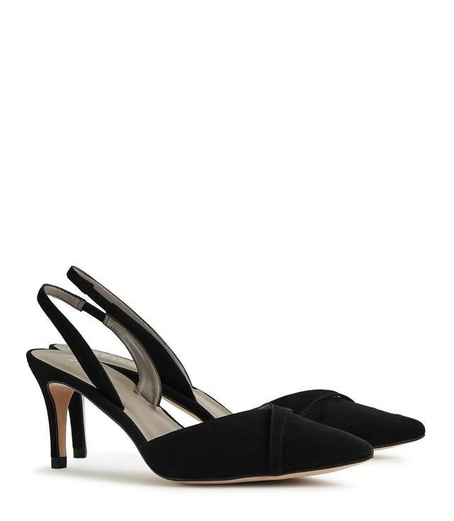 Point-Toe Kitten Heel Shoes