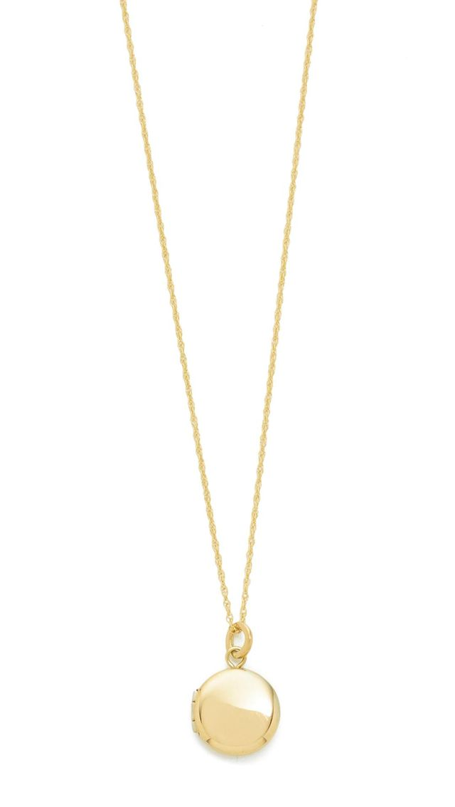 14K Gold Keepsake Locket Necklace